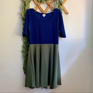 LuLaRoe Color Block Nicole Dress